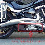 バイクパーツ XV1900CU レイダー マフラーカバー